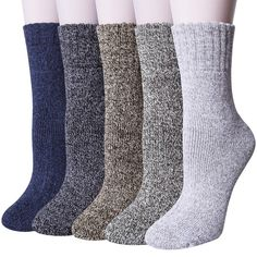 941a25d12f96c UPGRADED5 Pairs Womens Winter Super Soft Thick Warm Wool Knitting Casual  Crew... #