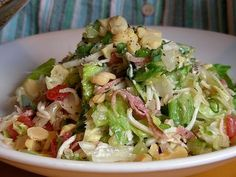 California Pizza Kitchen Chopped Salad CPK chopped salad - no need to boil the dressing Italian Chopped Salad, Chopped Salad Recipes, Italian Salad, Chopped Salads, California Pizza Kitchen Chopped Salad Recipe, Cooking Recipes, Healthy Recipes, Avocado Recipes, Healthy Menu