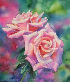 watercolor painting flower