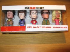 Set of 5.  Mini Wacky Wobbler Bobble Heads - Big Bang Theory.  Available at Best of Friends Gift Shop in the lobby of Winnipeg's Millennium Library. 204-947-0110 mailto:info@friendswpl.ca Gifts For Friends, Best Friends, Wacky Wobbler, Big Bang Theory, Just For Fun, Bobble Head, Baseball Cards, Mini, Shop