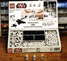 For the lego fans - - More memes, funny videos and pics on Lego Star Wars, Star Wars Art, Star Trek, Lego Stormtrooper, Lego Design, Legos, Lego Army, Star Wars Room, Star Wars Design