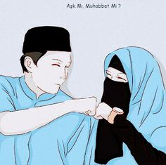 …: Love or … Love? Couple Sketch, Couple Drawings, Art Drawings, Hijab Anime, Anime W, Photo Islam, Album Design, Muslim Couple Photography, Hijab Drawing