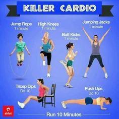 Killer cardio exercise workout routine