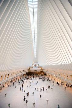 Oculus, World Trade Center Transportation Hub, (Santiago Calatrava, 2016) Photo Credit: Jennifer S. Altman for The New York Times