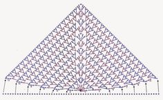 tejidos artesanales en crochet: pañuelo triangular tejido al crochet para tu mejor amigo