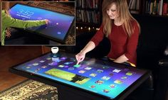 The giant 46-inch Android touchscreen coffee table