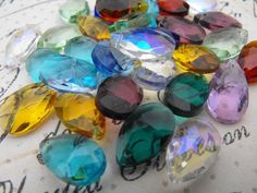 '20 Pieces Teardrop Glass Suncatcher Beads' is going up for auction at  5pm Wed, Jun 6 with a starting bid of $4.