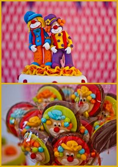 Circus Party cute clown cookies / I need a bakery that could make these cookies.