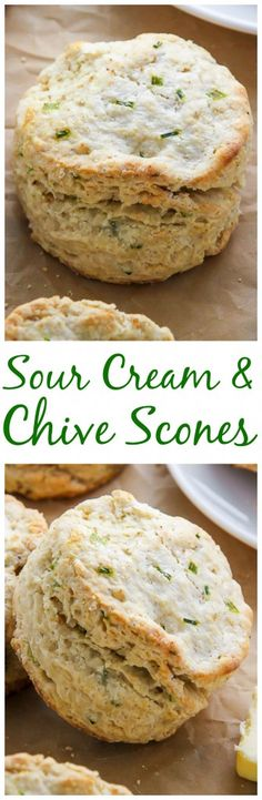 Fluffy and flavorful sour cream and chive scones! A great choice for ...