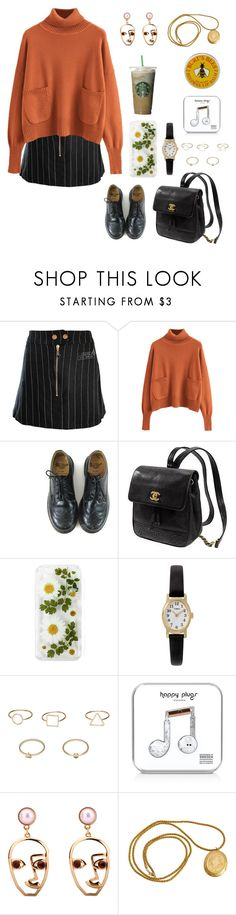 """""""Untitled #357"""" by ellie2850 ❤ liked on Polyvore featuring Jean-Paul Gaultier, Dr. Martens, Kate Spade, Timex, MANGO, Happy Plugs and Burt's Bees"""
