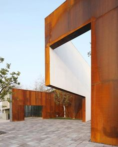 Corten Steel Courtyard///////Dedicated to deliver superior interior acoustic experince.  www.bedreakustik.dk/home
