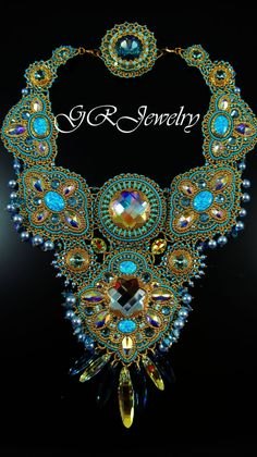 Mukades Swarovski Necklace  2nd place winner in Bead by LiaReed, $1800.00