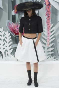 #Chanel #Couture #Printemps #2015  Very fun and flirty, but I'd rather not see the navel, thank you very much.  Ever heard of a sari, Karl?