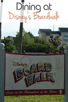 What are the dining options at Walt Disney World's BoardWalk?