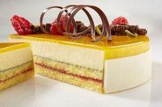 Entremet Recipe, Flan, Modern Cakes, Beautiful Desserts, Fancy Desserts, Pie Cake, Mousse Cake, Something Sweet, Plated Desserts