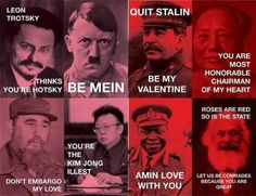 I heart this so much. PJ Lifestyle » Dictator Valentine Cards