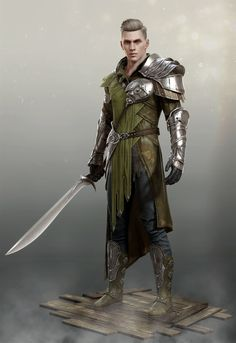 Captain Salvatore Erickson, Province of Fyndell, Territory of Egolion Dungeons And Dragons Characters, Dnd Characters, Fantasy Characters, Fantasy Armor, Medieval Fantasy, Fantasy Male, Fantasy Fighter, Fantasy Character Design, Character Concept