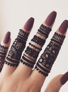 Gorgeous Simple Fingers Henna Designs for 2019 - Mehndi designs - Henna Designs Hand Henna Hand Designs, Eid Mehndi Designs, Modern Mehndi Designs, Mehndi Design Pictures, Mehndi Designs For Beginners, Mehndi Designs For Girls, Mehndi Designs For Fingers, Beautiful Henna Designs, Latest Mehndi Designs