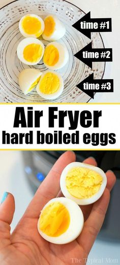 How to Make Perfect Air Fryer Hard Boiled Eggs! How to Make Perfect Air Fryer Hard Boiled Eggs! Air fryer hard boiled eggs are easy to do! We will show you 3 different ways to get the perfect yolks for you. A great snack or protein packed breakfast. Air Fryer Recipes Appetizers, Air Fryer Recipes Vegetables, Air Fryer Recipes Snacks, Air Fryer Recipes Low Carb, Air Fryer Recipes Breakfast, Air Frier Recipes, Air Fryer Dinner Recipes, Meat Appetizers, Recipes Dinner