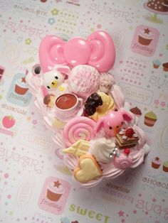 Sugarbunnies Tea Party Decoden Deco Case for iPhone 3g.