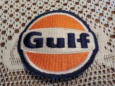 Gulf Oil-Gas-Applique-Patch-Crest by LouisandRileys on Etsy