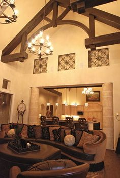Decorative Touches by Stadler Custom Homes mediterranean-living-room