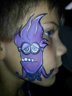 Minion Face Paint Face painting purple minion
