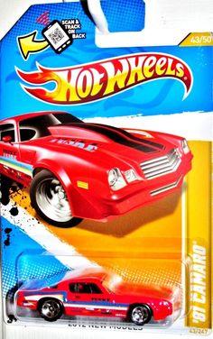 1981 Chevy Camaro Hot Wheels 2012 New Models #43/50 RED #HotWheels #Chevrolet