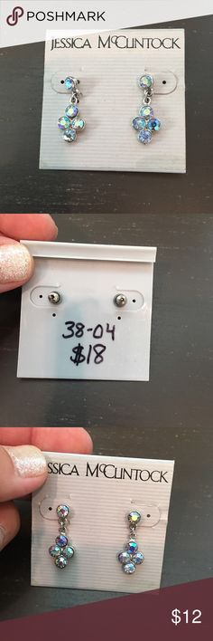 🛍 Jessica McClintock Iridescent Drop Earrings NWT Jessica McClintock Jewelry Earrings