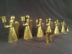 Vintage brass angel candle holders candles by ParkAvenuePoodle