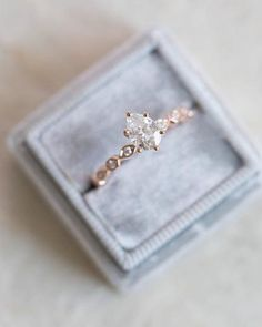 LOVE Rose Gold - Custom Pear shape engagement ring with a modified unique Princess band. Need yours? DM to begin the process with one of our Diamond & Design experts :) #diamondweddingring #stunningrings