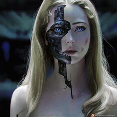 Ideas For Cyborg Concept Art Cyberpunk Arte Cyberpunk, Cyberpunk Girl, Cyberpunk Aesthetic, Character Inspiration Fantasy, Chica Cyborg, Robot Makeup, Cyborg Girl, Arte Robot, Robot Girl