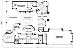 Florida Mediterranean House Plan 60518