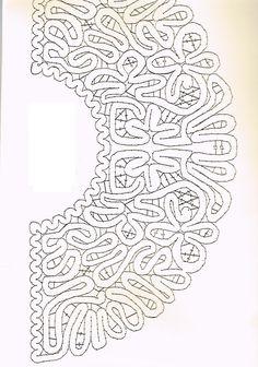 Risultati immagini per bobbin lace fan pattern Bobbin Lace Patterns, Embroidery Patterns, Fabric Stiffener, Romanian Lace, Bobbin Lacemaking, Lace Heart, Point Lace, Lace Jewelry, Needle Lace
