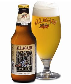 Allagash White Brewery: Allagash Location: Portland, ME Food pairing: Mediterranean Tastes like: This peppery, aromatic ale will wake up your nose and your palate with traces of banana, honey, and clove. Beer Brewing, Home Brewing, Best Summer Beers, American Beer, Wheat Beer, Beers Of The World, Beer Brands, Beer Label, Packaging