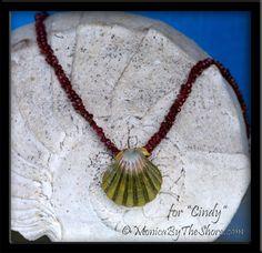 Custom Moonrise Sunrise Shell on Kahelelani Shells Necklace for Cindy