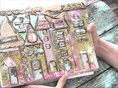 Fli[ thru of art journal - Dylusions Journal - YouTube