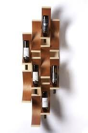 Stylish wine rack for wine storage. Unique Wine Racks, Wine Rack Wall, Wine Display, 3d Texture, Wine Bottle Holders, Storage Design, Wine Storage, Diy Wood Projects, Furniture Styles
