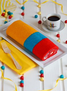 Independencia de Colombia Rolled cake