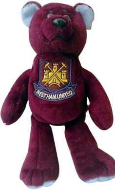 West Ham United Beanie Bear Childrens Teddyn Bears