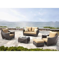 Futura 5 Piece Patio Deep Seating Set By Sirio™ Costco.com