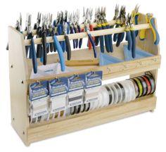 Beading Station Workspace Organization Dowel Storage Hooks Spooled Portable New | eBay