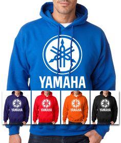 YAMAHA HOODIE Racing Motocross ATV White Logo YZF Hooded Sweatshirt OEM R1 R6 #RockCityThreads #Hoodie