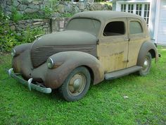 Willys Abandoned Vehicles, Abandoned Cars, Classic Trucks, Classic Cars, Junkyard Cars, Chevy Vehicles, Danny Zuko, Military Jeep, Rusty Cars