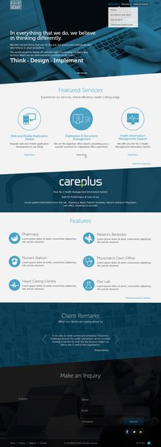 Create an awesome corporate website for DQ by xclusive