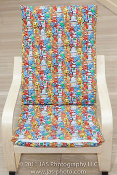 I can't sew for the life of me, anyone up for the task? Ireally need one for Addison's chair! TUTORIAL: Kids Ikea Poang Slipcover
