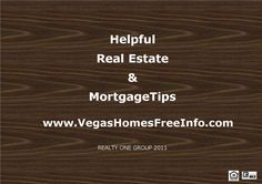 Helpful Tips | CALL or CLICK and put the EXPERTS at The Mayol Realty Group to work for you! 702-812-9990 http://www.YourVegasHomesValue.com  #themayolrealtygroup #aliantehomesforsale #lasvegasrealestate