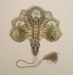 """fan-shaped chistmas card    1870s    from Manchester City Galleries"""