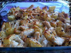 Las recetas de SofyLeon: Patatas con pollo y queso