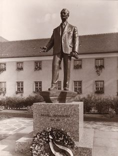 In 1966, Swarovski's hometown of Wattens honored company founder Daniel Swarovski with a monument in his honor placed in front of the main school in the community. #Swarovski120 #ExtraordinaryHeritage